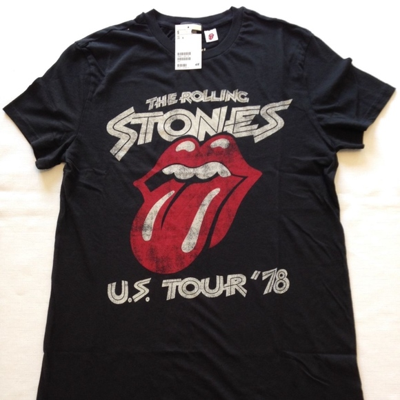H&M Rolling Stones T-Shirt NEW Size M 2016 Release